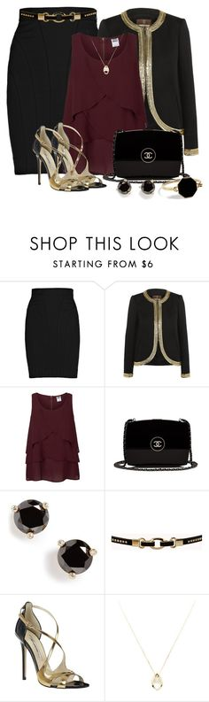 """A Touch of Marsala"" by diane-shelton ❤ liked on Polyvore featuring Diane Von Furstenberg, Roberto Cavalli, Vero Moda, Chanel, Kate Spade, Forever 21, Brian Atwood, Noor Fares and Marc by Marc Jacobs"
