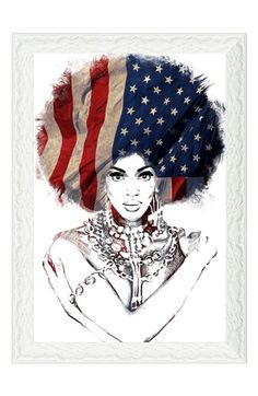 Oliver+Gal+'American+Woman'+Framed+Art+Print+available+at+#Nordstrom
