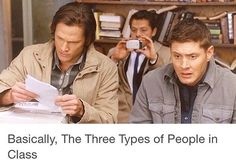And I know which one I am... Dean. In math class I'll always be Dean.