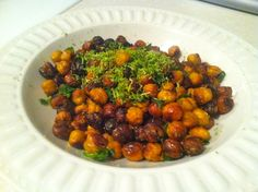 Roasted chili lime sea salt chick peas! #appetizer #healthy #cleaneating