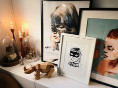 ▲ picture by marie thorsen. #home #interior #design #flat #livingroom #color #retro #art #style #sandrachevrier #leeharding #burntfeather #cathrineholm #secondhand #vintage #fleamarket #turntable