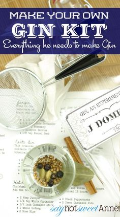 Make Your Own Gin Kit- A great gift for the Gin lover or tinkerer in your life. Everything he needs to make his own special Gin! | Saynotsw...