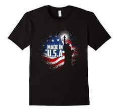 Made in USA - Statue of Liberty - American flag T-shirt Tees