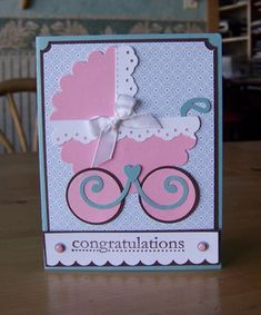 Punch art baby carriage card