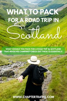 Are you planning on going to Scotland for an epic camping and/or road trip session? In this article we help you with packing for your trip to Scotland. We share 15 travel essentials for a camping trip in Scotland. #Scotlandroadtrip #Scotlandcamping