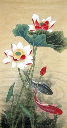 Chinese Paintings ~ Koi Fish