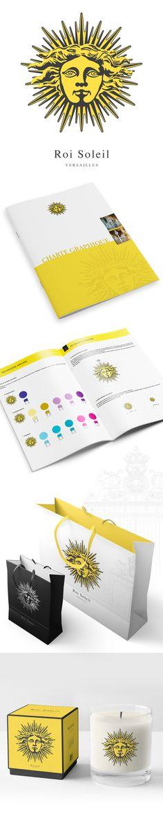 Réalisation d'une identité pour les produits dérivés du Château de Versailles. Le graphisme et les couleurs reprennent les codes du Roi Soleil. Création retenue par le magazine Stratégies pour le Guide du Design 2010  - Agence de Design Regliss.com #design #logo #branding #identite