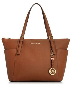 MICHAEL Michael Kors Handbag, Jet Set East West Top Zip Tote - Shop All Michael Kors Handbags & Accessories - Handbags & Accessories - Macy'...
