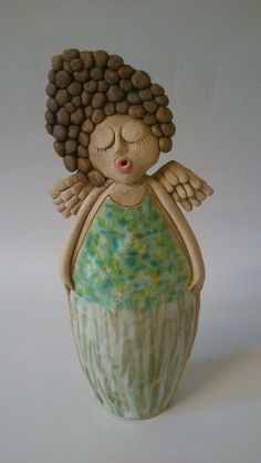 Art Dolls, Ceramic Sculpture, Raku Pottery, Clay Art, Ceramic Angels, Ceramics Pottery Art