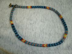 glass bead necklace from Guatemala