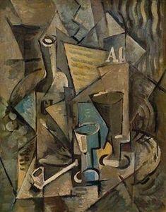 Emil Filla (Czech 1882–1953) [Cubism, Modernism, Osma] Nature morte à la pipe.