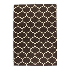 "STOCKHOLM flatwoven rug brown $199.00 Size: 5' 7""x7' 10""  The durable, soil-resistant wool surface makes this rug perfect in your living room or under your dining table."