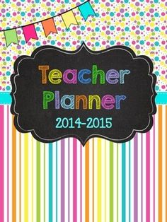 This OVER 100 pages bold Rainbow Chalkboard Teacher Planner is fully EDITABLE in PPT where you can use your own fonts and change the size.  EDITABLE VERSION INCLUDED!  1 of 10 Themes  See below for more options!This editable Rainbow Chalkboard Teacher Planner makes the task of organizing important papers and information easy.