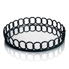 Allure by Jay 15 Looped Round Tray in Black