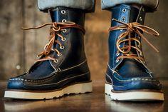 Oak Street Bootmakers Hunt Boot Navy Chromexcel