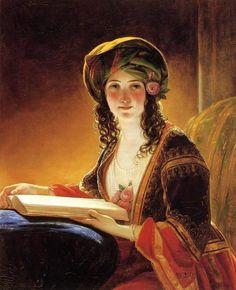 Friedrich von Amerling- Oriental woman, 1838