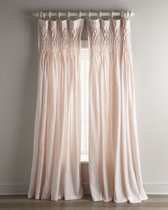 Pom Pom at Home Each x Smocked Linen Curtain - Gardinen Ideen - Curtain Pink Curtains, Drop Cloth Curtains, Hanging Curtains, Curtains With Blinds, Linen Curtain, Nursery Curtains, Drapery, Roman Curtains, French Curtains