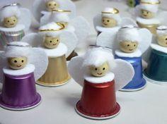 Gli angioletti riciclosi con le capsule del caffè - manualidades con capsulas nespresso paso a paso - Buscar con Google