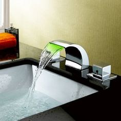 Sumerain LED faucet. The light changes color as the water temperature changes.