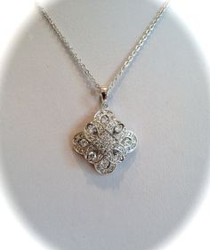Vintage Pave Diamond Estate Jewelry Pendant by WOWTHATSBEAUTIFUL