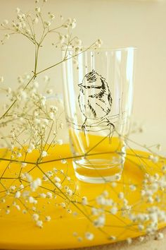 Glass etched owl!