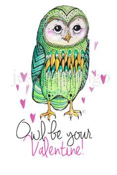 Owl Valentines Pinned by www.myowlbarn.com