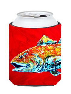 Fish - Red Fish Alphonzo Head Can or Bottle Beverage Insulator Hugger