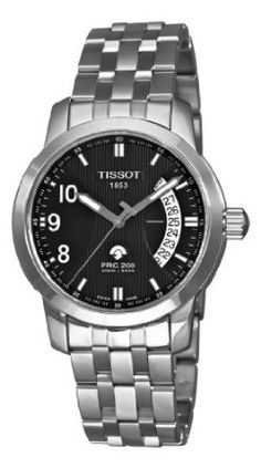 Tissot Men's T0144211105700 T-Sport PRC 200 Black Date Dial Watch: Watches: Amazon.com