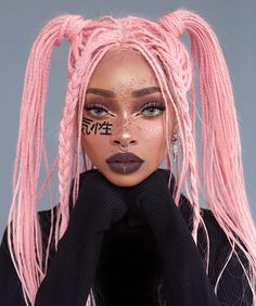 A look inspired by bratz, which one is your fave SWIPE 🖤🔛 Hair by Kishō 🇯🇵 I'm wearing bubblegum pink in this, available… Which Hair Colour, Cool Hair Color, Baddie Hairstyles, Cute Hairstyles, Spiderbite Piercings, Dermal Piercing, Curly Hair Styles, Natural Hair Styles, Aesthetic Hair