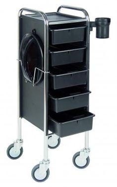 Efalock Arbeitswagen Piccolo 84/5 schwarz - günstig bei Friseurzubehör24.de // Sie interessieren sich für dieses Produkt? Unsere Service-Hotline: 0049 (0) 2336 87 000 11