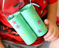 "Help your kids make these bird-watching ""binoculars"" to scope out your local wildlife."