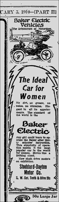 VINTAGE AD: ANY GIRL CAN DRIVE AN ELECTRIC CAR!