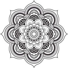 Mandala Coloring Pages Printable. Collection of Mandala coloring pages. You can find mandala images to color, from easy to hard. Easy Mandala Drawing, Lotus Drawing, Simple Mandala, Mandalas Drawing, Drawing Flowers, Art Flowers, Flower Coloring Pages, Mandala Coloring Pages, Adult Coloring Pages