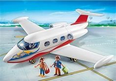Playmobil Αεροπλάνο Με Πιλότο & Τουρίστες (6081) με αποσπώμενη οροφή.