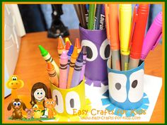 Turn empty toilet paper rolls into these great ocean kids crafts! You will be able to store all your pens and pencils in this squid pencil holder.