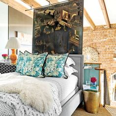 The Art of Living Small: Loft Bedroom with Oriental Screen