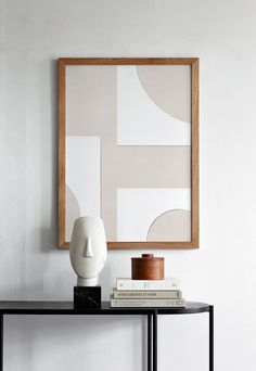 Object Blanc No. 23 Print This Atelier Cph poster is inspired by organic abstraction and graphic shapes. The print design is created by a collage of hand painted canvas and explores the layer of the colour white as a new tone on tone effect. This art w