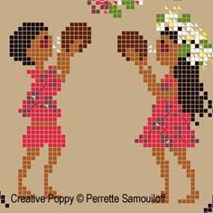 Tahiti cross stitch pattern by Perrette Samouiloff Cross Stitch For Kids, Cross Stitch Borders, Cross Stitch Charts, Cross Stitch Designs, Cross Stitching, Cross Stitch Patterns, Dmc Embroidery Floss, Cross Stitch Embroidery, Embroidery Patterns