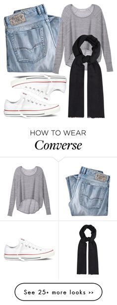 """""""Simplicity   Hijab"""" by lunicornn on Polyvore featuring Diesel, Victoria's Secret, Converse and Mercy Delta"""