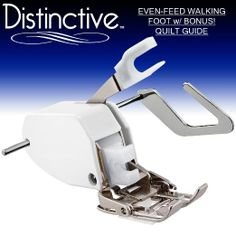 Amazon.com - Distinctive Premium Even Feed Walking Sewing Machine Presser Foot with BONUS! Quilt Guide