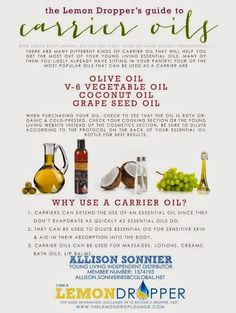 How do you choose which carrier oil to use with your essential oils? Here is a handy list of which to use when.
