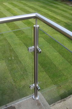 Glass Railing for Balcony . Glass Railing for Balcony . Stainless Posts and Glass Balcony Derbyshire Glass Balcony Railing, Metal Deck Railing, Patio Railing, Balcony Railing Design, Staircase Railings, Roof Design, Fence Design, Staircase Design, Metal Handrails
