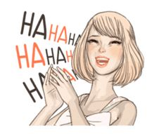 Hugs N Kisses, Chat App, Line Sticker, Lol, English, Stickers, Erika, Emoji, Alice