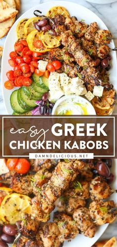 Greek Chicken Kabobs, Greek Marinade For Chicken, Grilling Recipes, Cooking Recipes, Healthy Recipes, Easy Chicken Recipes, Turkey Recipes, Greek Recipes, Ethnic Food Recipes