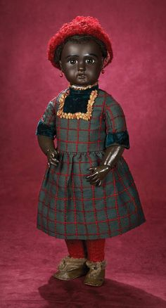 Jules Nicholas Steiner (1832-1902) — Brown-Complexioned Bisque Bebe, Figure A with  Original Antique Costume, c.1890  (595x1100)