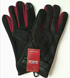 Kehan Touch Gloves Windproof Winter Outdoor Gloves For Men Black Red   fashion  clothing dc12bcafc9d