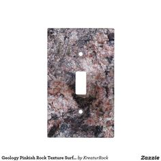 Geology Pinkish Rock Texture Surface Light Switch Cover