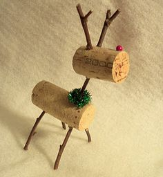 Wine Cork Reindeer *  Can't wait to get back to France and the wine bottles with corks @Annie Ziehr