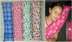 Almofada em tecido de algodão com enchimento em fibra siliconada. A almofada é presa com tira de fechamento em velcro no cinto de segurança do carro. Mais conforto para as crianças dormirem na cadeirinha sem ficar com o pescoço caído. Medida 60cm x 20cm.