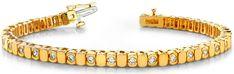 Diamantarmband mit 1.00 Karat Diamanten aus 585er Gelbgold bei www.diamantring.be für nur 2490.00 Euro Versandkostenfrei bestellen.